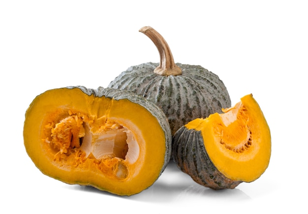 Fresh pumpkin isolated on white background.