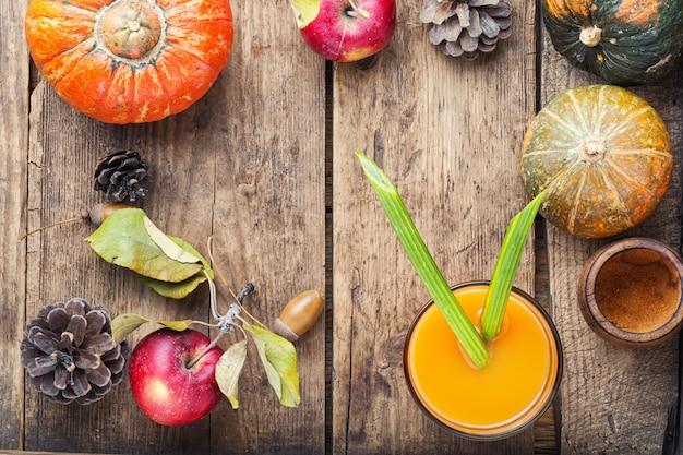Fresh pumpkin juice