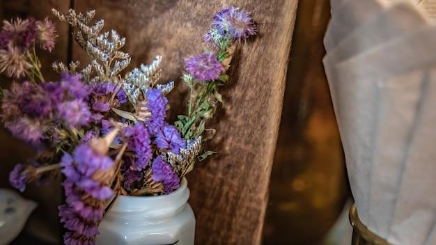 Fresh purple flower