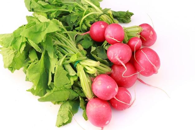 Fresh radish on white