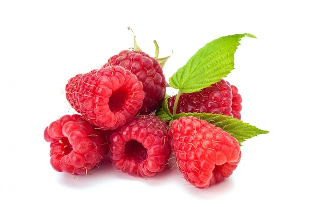 Fresh rasberry isolated