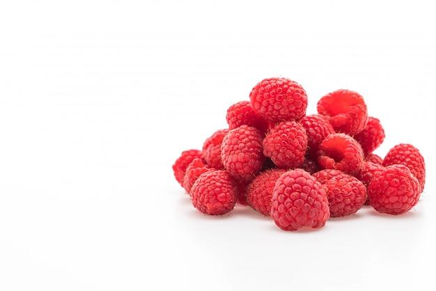 Fresh rasberry on white