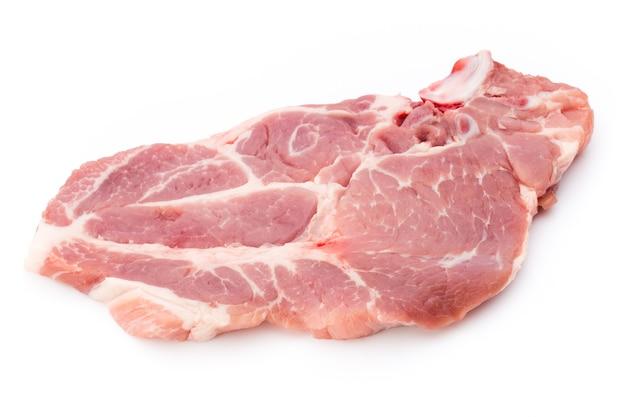 新鮮な生の牛肉ステーキの分離、トップビュー。