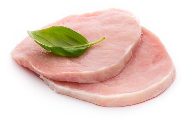 Fresh raw beef steak isolated on white