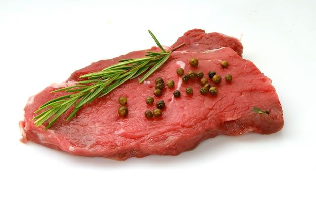 Fresh raw beefsteak ready to cook