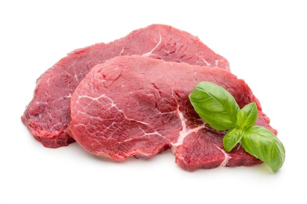 신선한 원시 바이오 쇠고기 스테이크 격리.