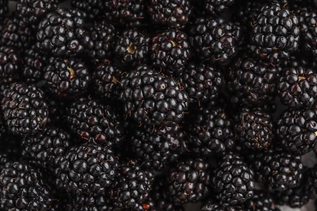 Fresh raw blackberry background.