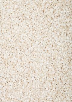 신선한 생 유기농 arborio 리조또 쌀 건강에 좋은 음식.