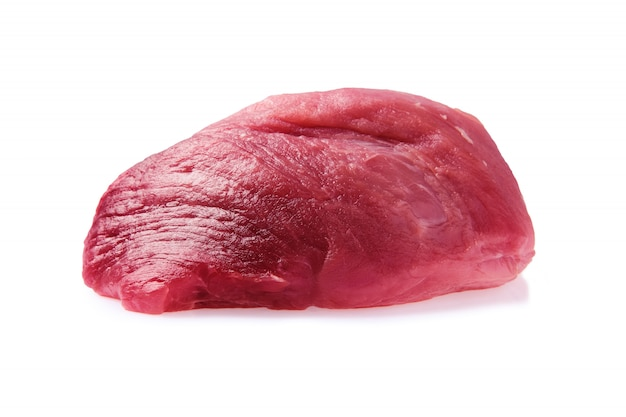 Fresh raw pork meat isolated on white