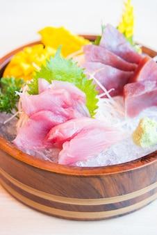 Fresh raw sashimi fish