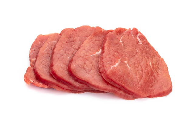 Fresh raw  steaks isolated