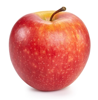 Fresh red apple isolated close up