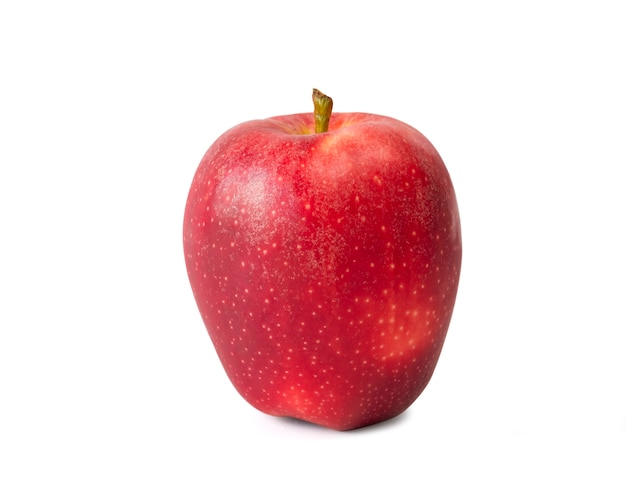 Fresh red apple  isolated
