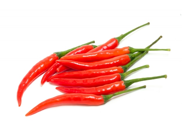 Fresh red chilli peppers