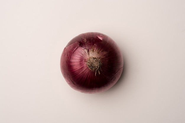 Fresh red onion over