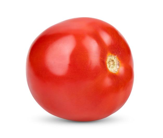 Fresh red tomato isolated on white background