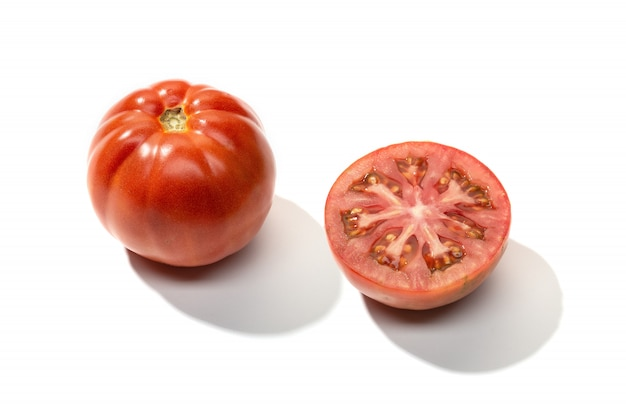 Fresh red tomato isolated