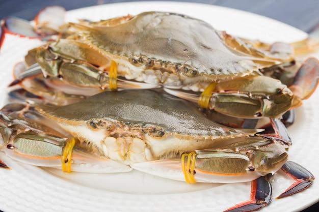 Fresh redspot swimming crab, living redspot swimming crab