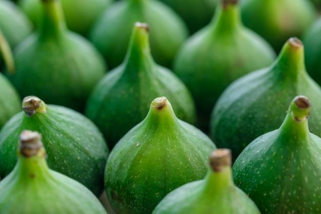 Fresh ripe figs . close-up . vertical.