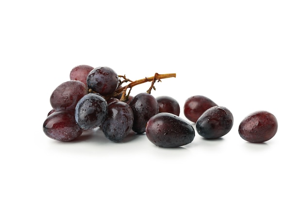 Fresh ripe grape isolated on white