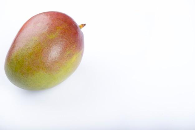 Fresh ripe mango fruit with isolated on white background.