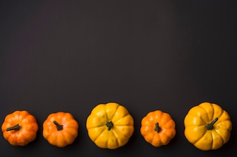 Fresh ripe pumpkins