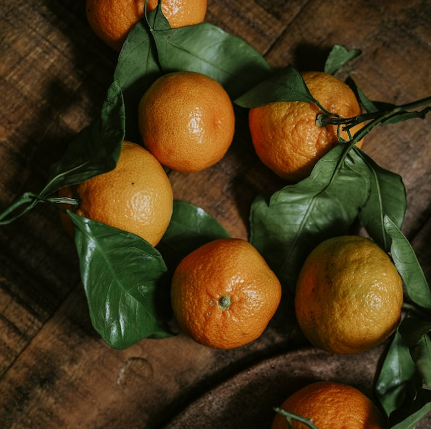 Fresh and ripe rangpur fruit
