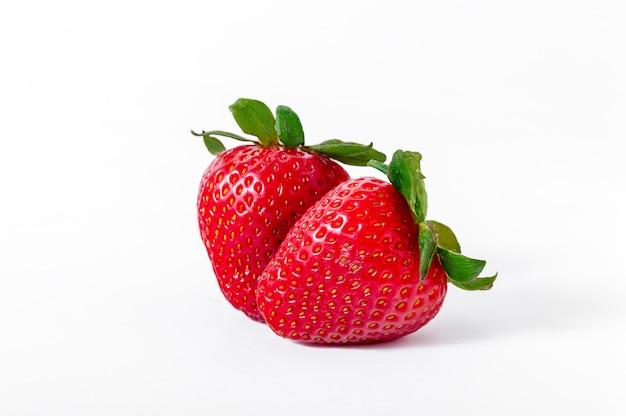 Fresh ripe strawberries isolated