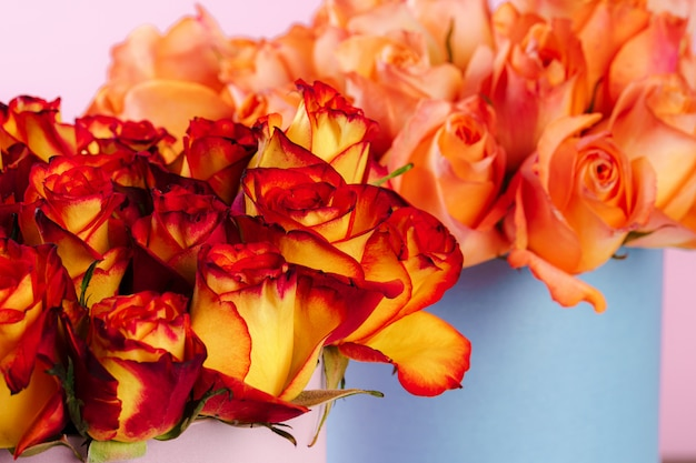 Цветы свежие розы. цветочный фон крупным планом