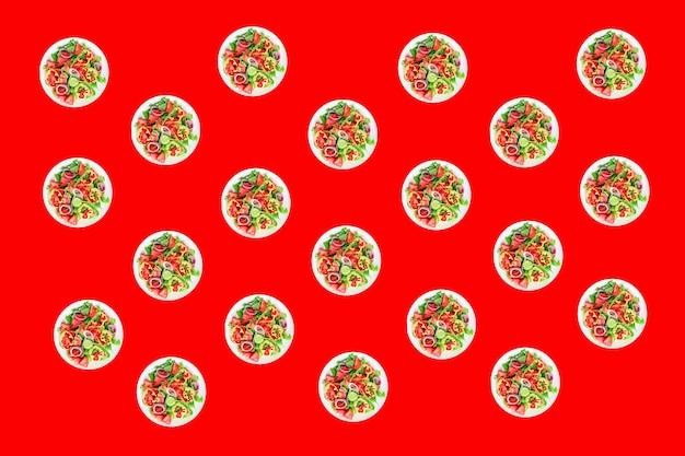フレッシュサラダ野菜トマトきゅうり胡椒玉ねぎオリーブオイルヘルシーベジミールスナック