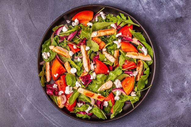 Fresh salad with chicken breast