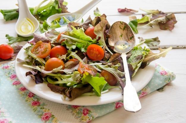 Fresh salad with greens