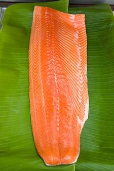 Fresh salmon prepare for cooking
