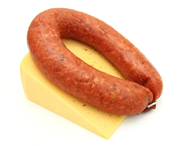 Fresh sausage with cheese