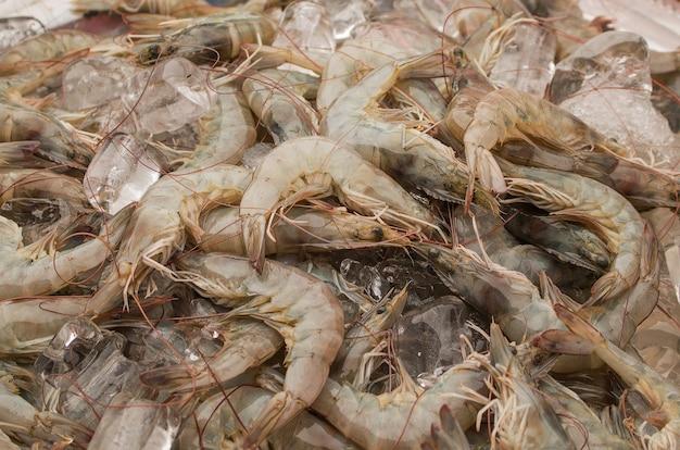 Fresh shrimp on local market