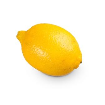 신선한 시칠리아 레몬 슬라이스 흰색 배경에 고립입니다. 평면도