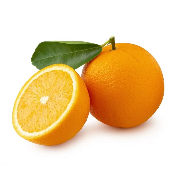 Fresh sliced oranges isolated