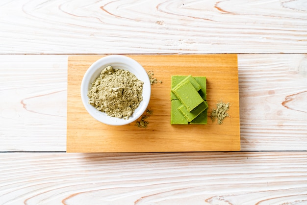 Fresh and soft matcha green tea chocolate
