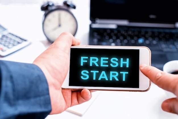 一日の新たなスタート。成功するコンセプトのための個人的な変革。事業開発と改善。正の違い。