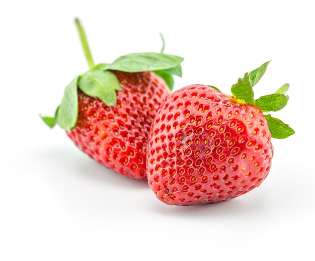 Fresh strawberry, friut on white background