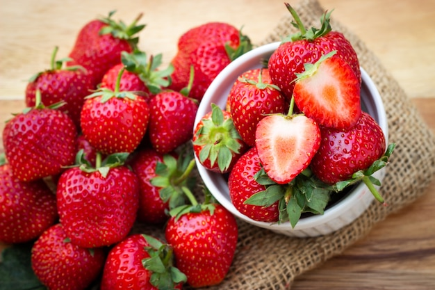 Fresh strawberry. healthy and sweet fruit.
