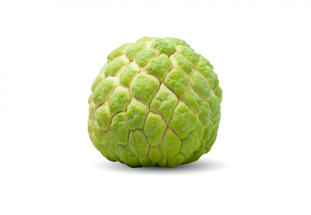 Fresh sugar apple isolated on white. food and healthy concept