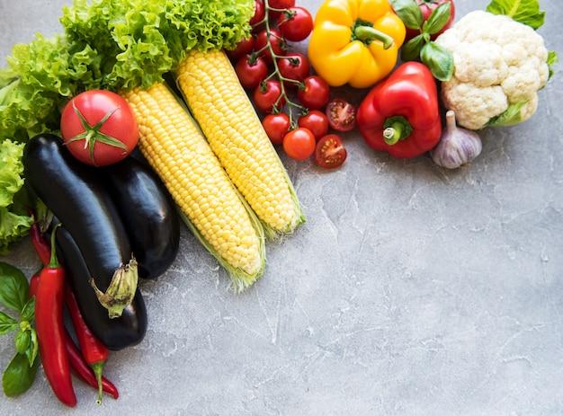 Fresh summer vegetables