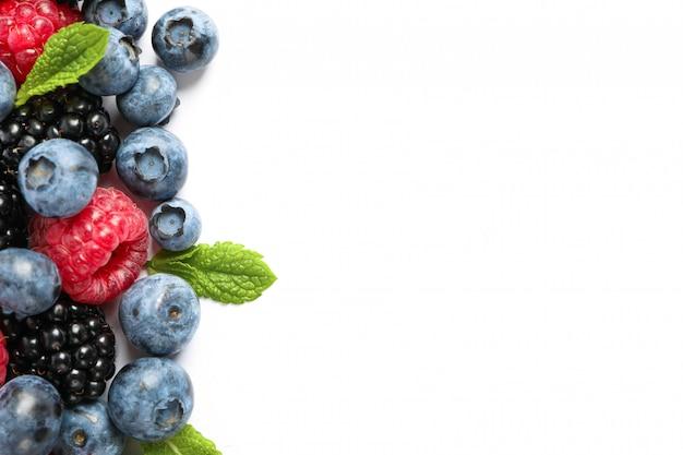 新鮮な甘い果実分離上面図