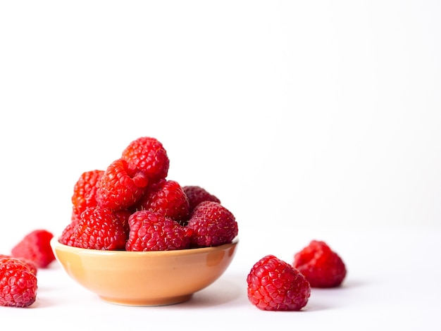 Fresh sweet berry on the white background