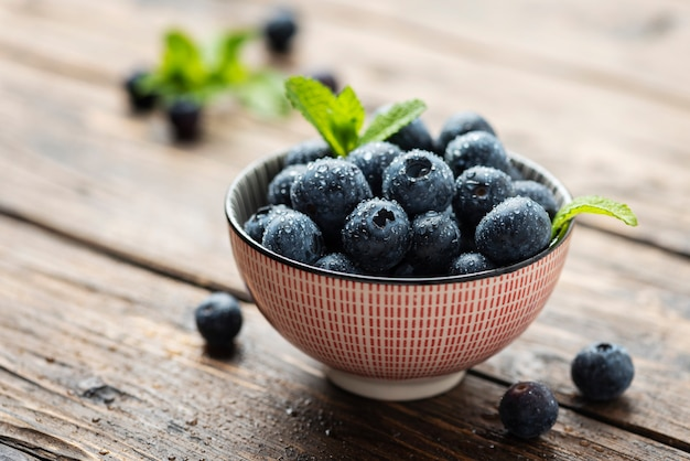 Fresh sweet blueberries