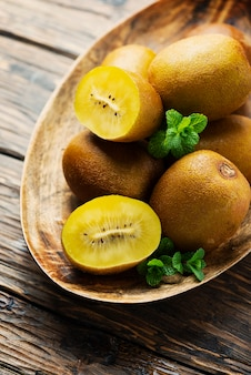 Fresh sweet gold kiwi
