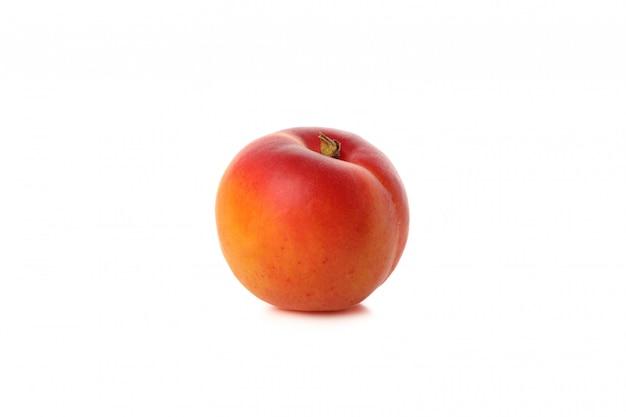 Fresh tasty apricot isolated on white