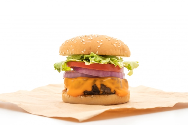 Fresh tasty beef burger with cheese