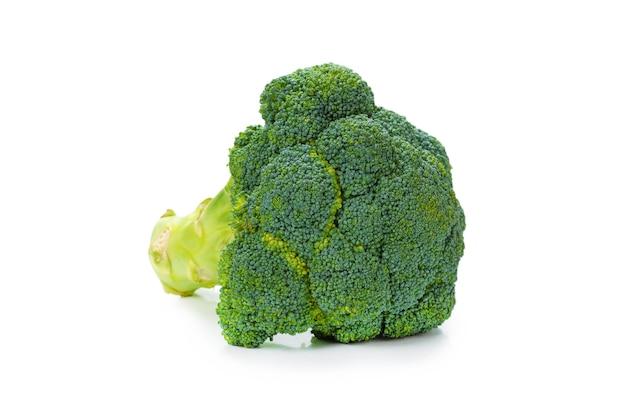 Fresh tasty broccoli isolated on white